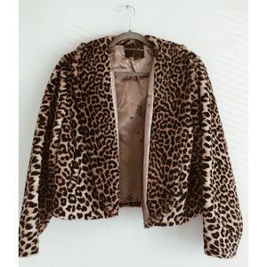 *FLASH SALE* Vintage Leopard Faux Fur Jacket